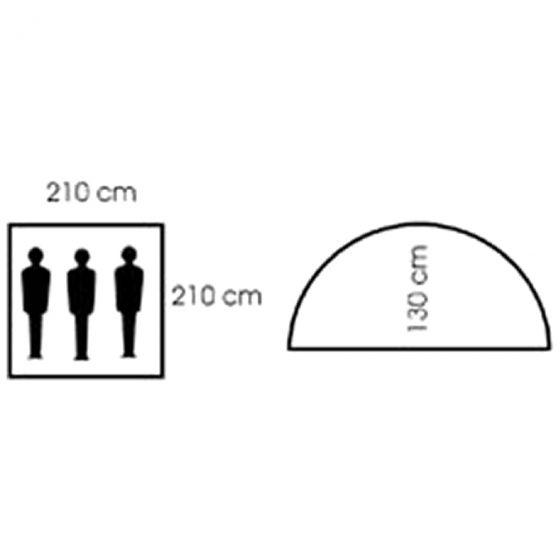 Tienda de campaña iglú MFH para 3 personas con red antimosquitos en OD Green
