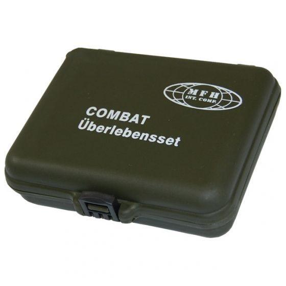 Kit de supervivencia en maletín de plástico MFH Combat