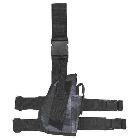 Funda de pistola para pierna derecha MFH en HDT Camo LE