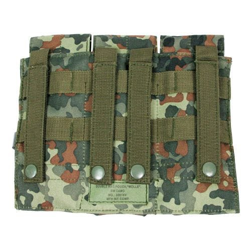 Portacargador triple MFH M4/M16 con sistema MOLLE en Flecktarn
