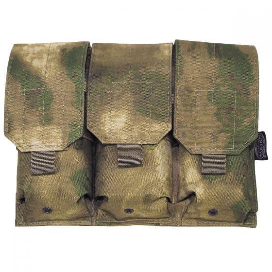 Portacargador triple MFH M4/M16 con sistema MOLLE en HDT Camo FG