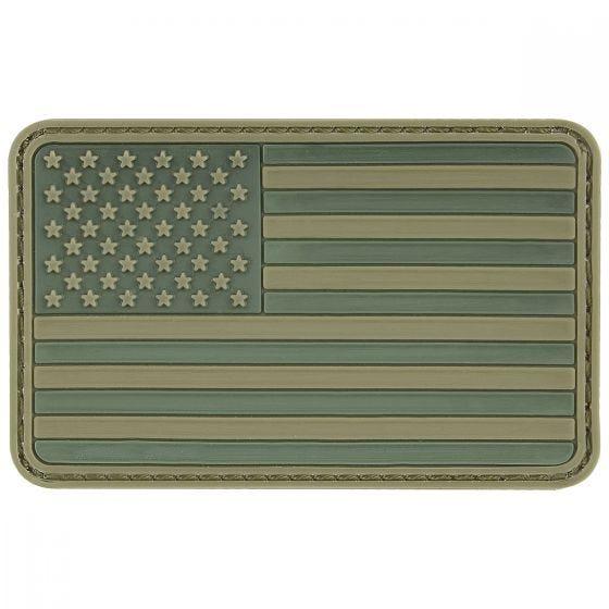Parche 3D de la bandera de los EE. UU. con velcro MFH en verde oliva