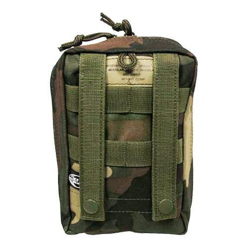 Bolsa para kit de primeros auxilios MFH con sistema MOLLE en Woodland