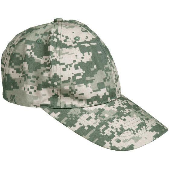 Gorra de béisbol Mil-Tec de Ripstop con hebilla metálica en ACU Digital