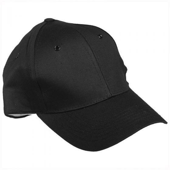 Gorra de béisbol Mil-Tec con banda de plástico en negro