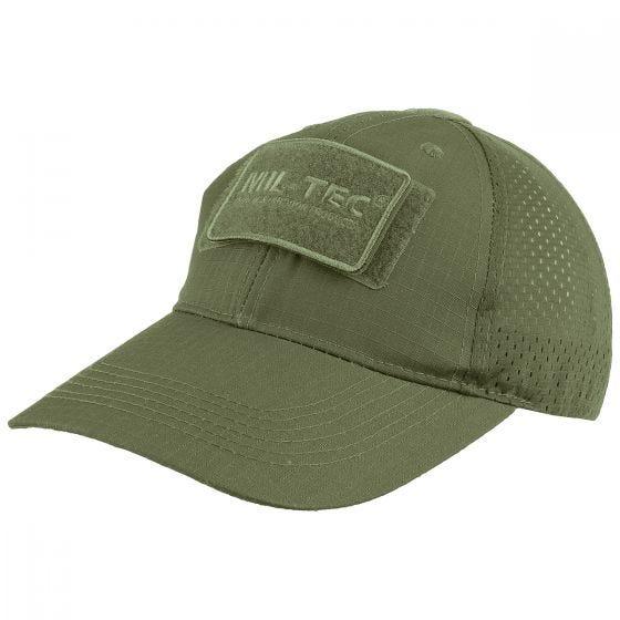 Gorra de béisbol de rejilla MFH en verde oliva