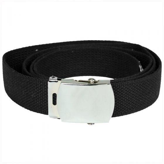 Cinturón de tela Mil-Tec en negro
