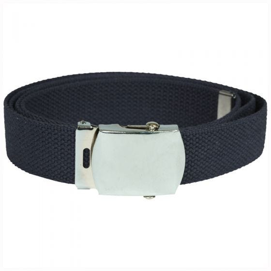 Cinturón de tela Mil-Tec en Navy Blue