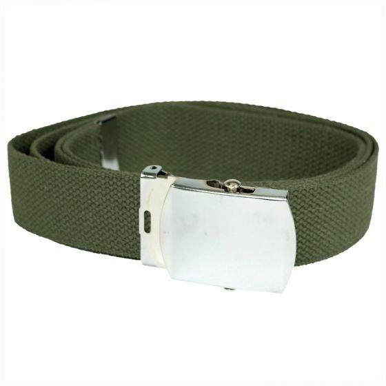 Cinturón de tela Mil-Tec en verde oliva