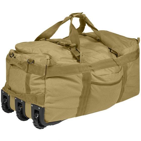 Bolsa de viaje Mil-Tec Combat con ruedas en Coyote