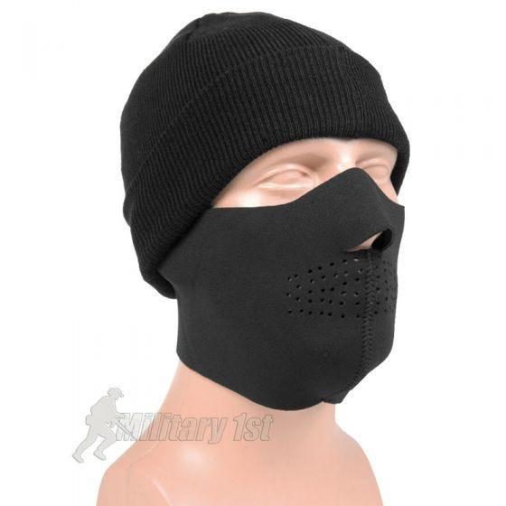 Máscara de neopreno de media cara Mil-Tec en negro
