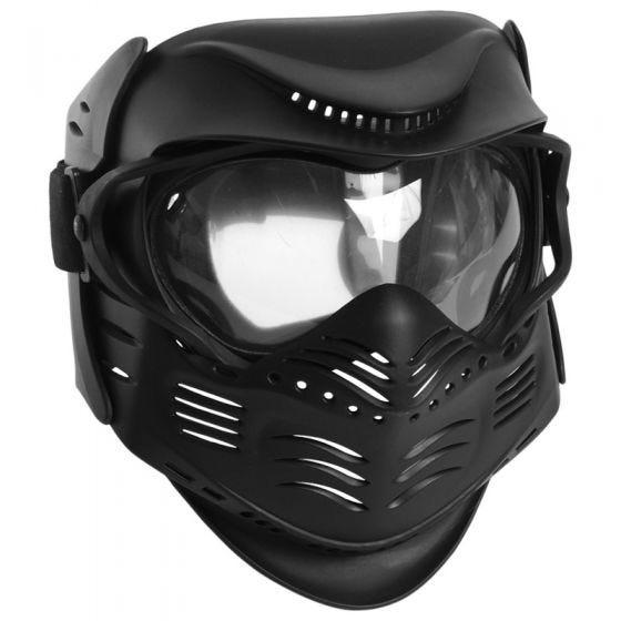 Máscara de paintball Mil-Tec en negro