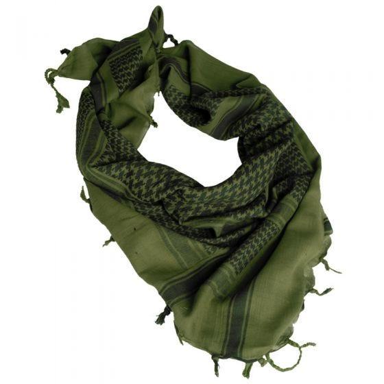 Pañuelo palestino Mil-Tec Shemagh en verde oliva / negro