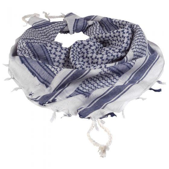 Pañuelo palestino Mil-Tec Shemagh en blanco / azul