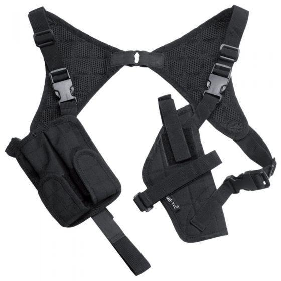 Funda de pistola para el hombro Mil-Tec Cordura en negro