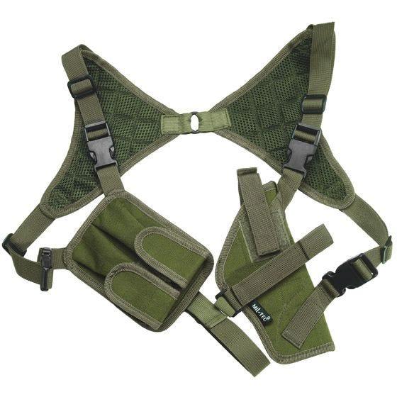 Funda de pistola para el hombro Mil-Tec Cordura en verde oliva