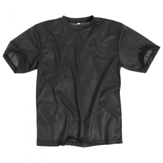 Camiseta de malla Mil-Tec en negro