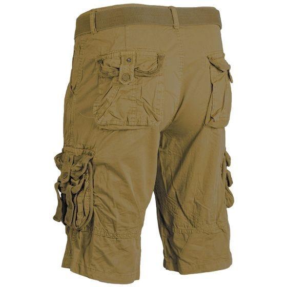 Pantalones cortos de supervivencia Mil-Tec prelavados de estilo vintage en Coyote
