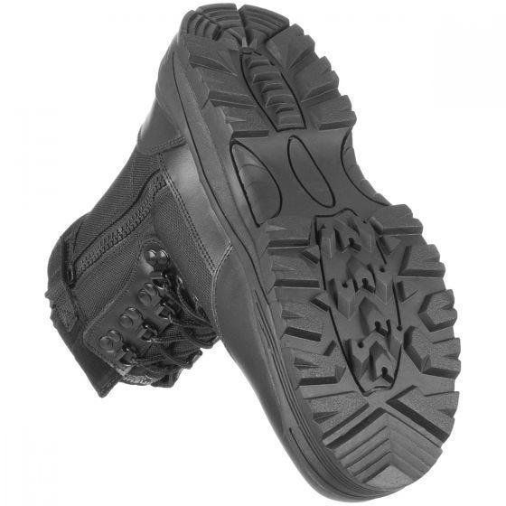 Botas tácticas Mil-Tec con cremallera lateral en negro