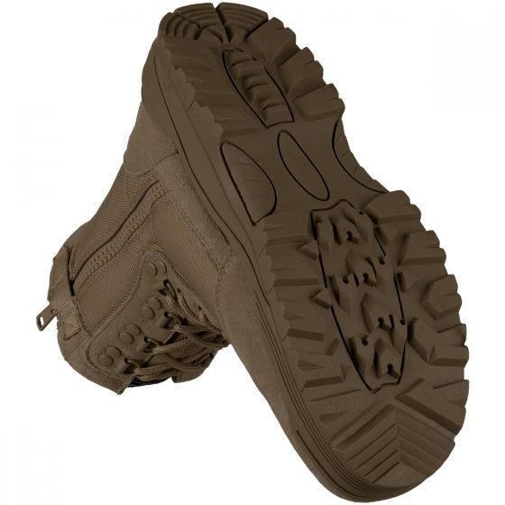 Botas tácticas Mil-Tec con cremallera lateral en marrón