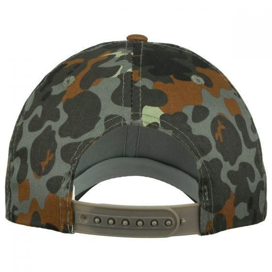 Gorra de béisbol Mil-Tec con banda de plástico en Flecktarn