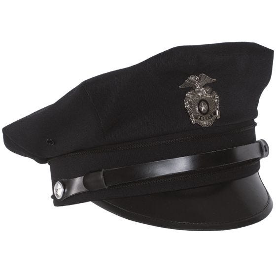 Gorra de policía con visera Mil-Tec US en azul oscuro