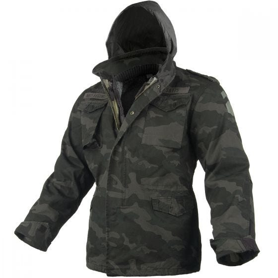 Chaqueta Surplus M65 Regiment en Black Camo