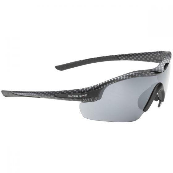 Gafas de sol Swiss Eye Novena con 3 lentes y montura en Carbon y negro mate