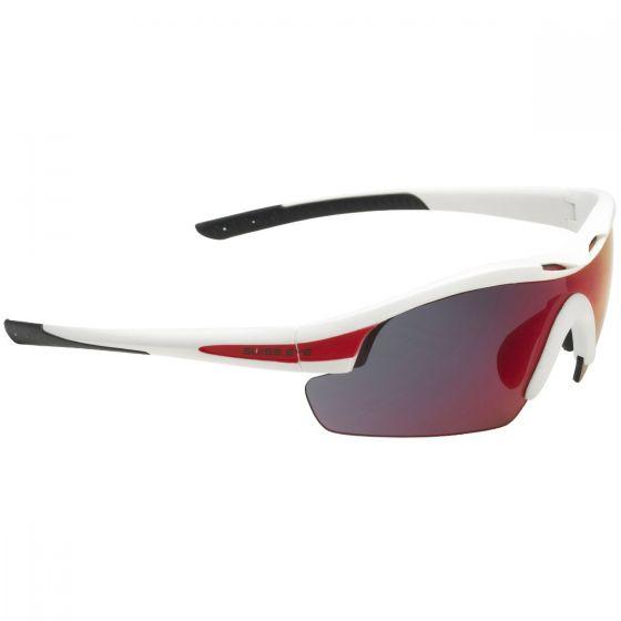 Gafas de sol Swiss Eye Novena con 3 lentes y montura en blanco mate y rojo