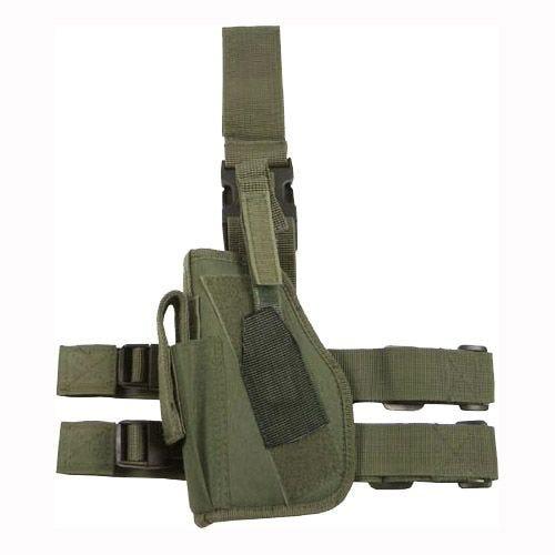 Funda de pistola para pierna izquierda MFH en verde oliva