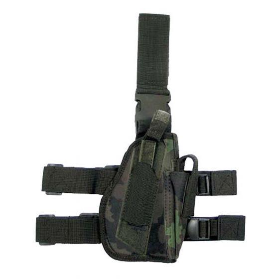 Funda de pistola para pierna derecha MFH en Czech Woodland