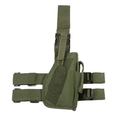 Funda de pistola para pierna derecha MFH en verde oliva