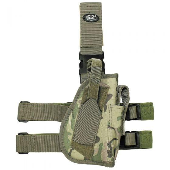 Funda de pistola para pierna derecha MFH en Operation Camo