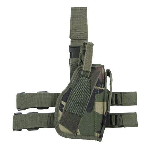 Funda de pistola para pierna derecha MFH en Woodland