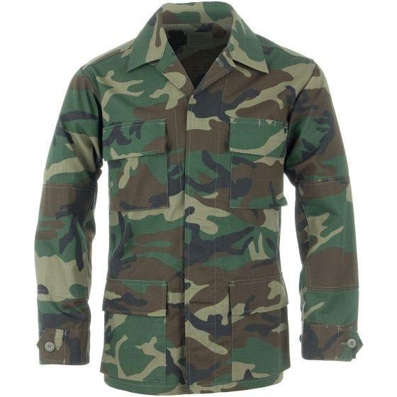 Camisa Teesar BDU de Ripstop en Woodland