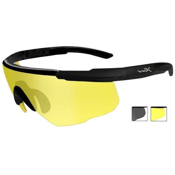 Gafas Wiley X Saber Advanced con lentes ahumadas + Pale Yellow y montura en negro mate