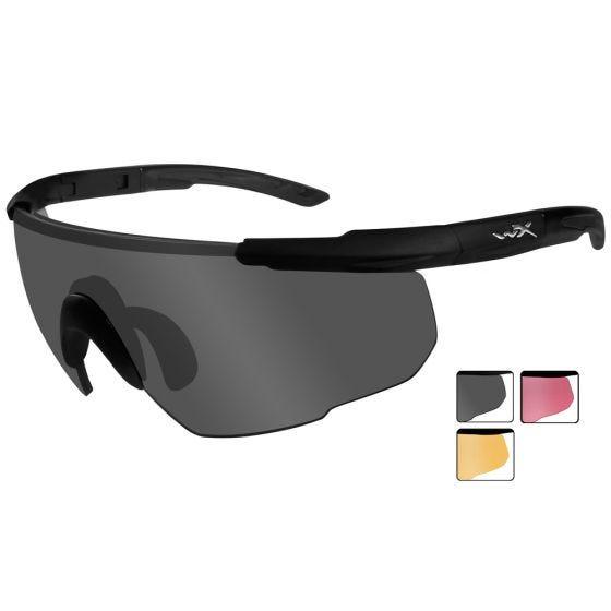 Gafas Wiley X Saber Advanced con lentes ahumadas + naranja claro + Vermillion y montura en negro mate