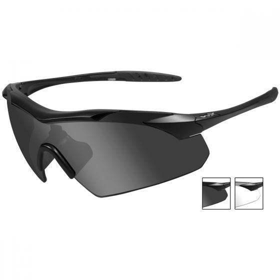 Gafas Wiley X WX Vapor con lentes ahumadas grises + transparentes y montura en negro mate