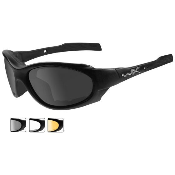 Gafas Wiley X XL-1 Advanced con lentes ahumadas + transparentes + naranja claro y montura en negro mate