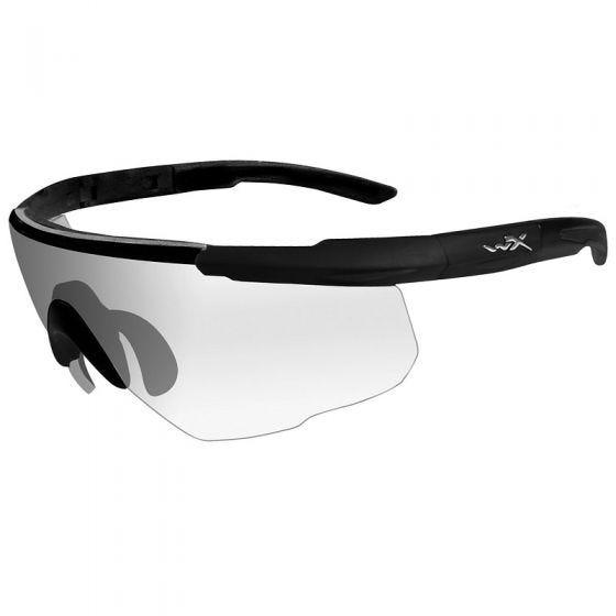 Gafas Wiley X Saber Advanced con lentes transparentes y montura en negro mate