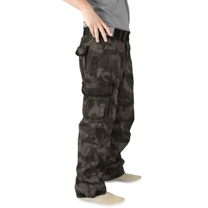 Pantalones Surplus Premium Vintage en Black Camo