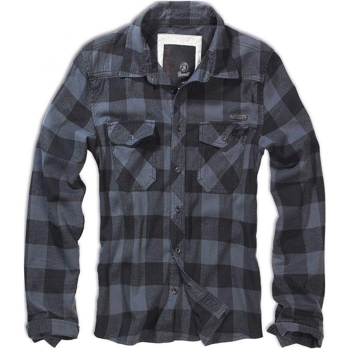 Camisa Brandit Check en negro / gris