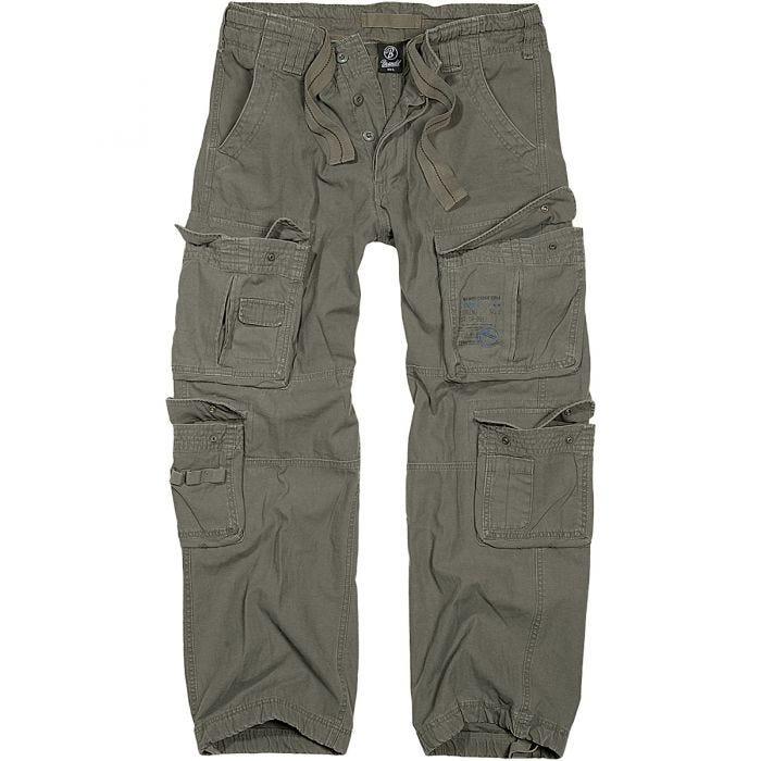 Pantalones Brandit Pure Vintage en verde oliva