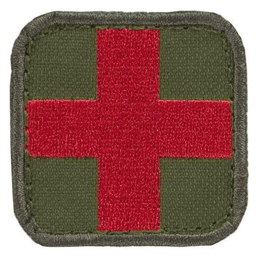 Parche con símbolo médico Condor en Olive Drab / rojo
