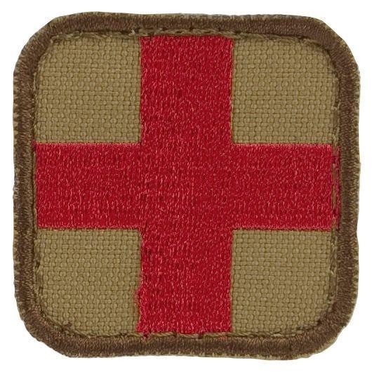 Parche con símbolo médico Condor en Tan / rojo