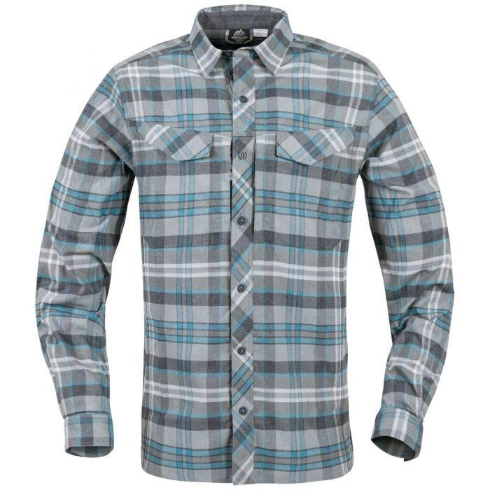 Helikon Defender Mk2 Pilgrim Shirt Long Sleeve Blue Plaid