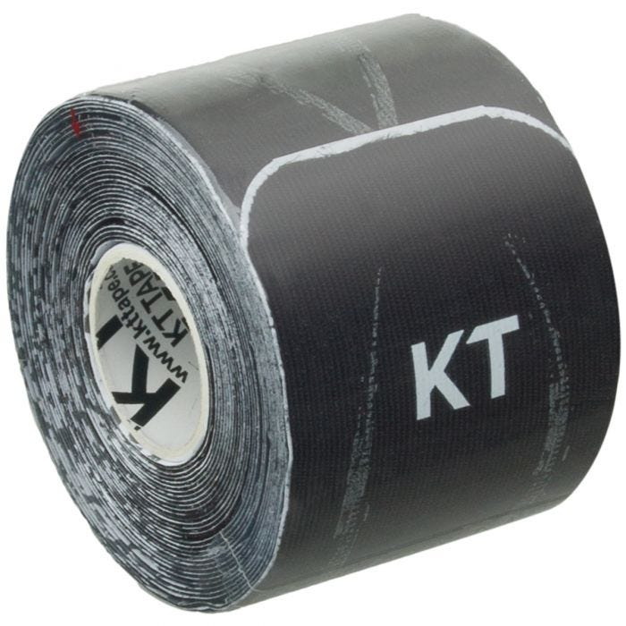 Cinta adhesiva KT Tape Synthetic Pro Extreme tiras individuales de 25,4 cm en Jet Black