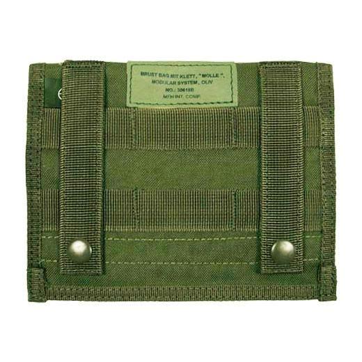 Bolsillo plano MFH Admin con sistema MOLLE en verde oliva