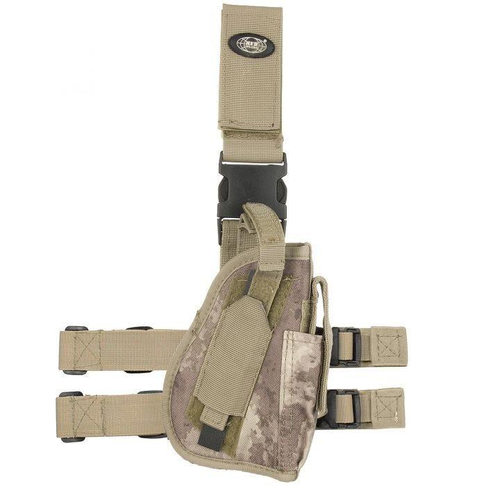 Funda de pistola para pierna derecha MFH en HDT Camo AU