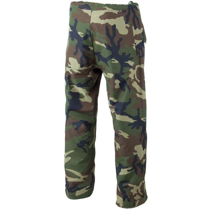 Pantalones para climas húmedos Mil-Tec laminado de 3 capas en Woodland